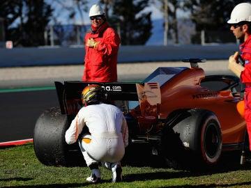 Vandoorne ve la parte trasera del McLaren