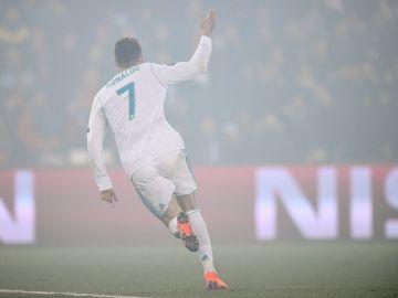 Cristiano celebra su gol ante el PSG