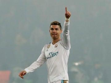 Cristiano Ronaldo celebra un gol con el Real Madrid