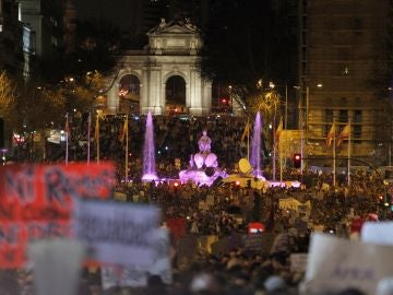 Manifestación en Madrid por el Día Internacional de la Mujer