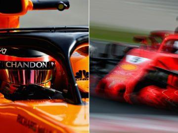 Vandoorne y Vettel, en Montmeló