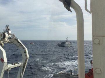 Barco de Proactiva Open Arms en aguas libias