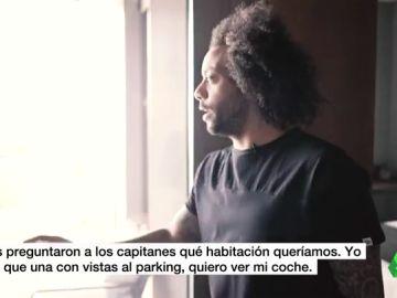 """Marcelo enseña su habitación en Valdebebas: """" Me quedé aquí cuando mi casa estaba en obras"""""""