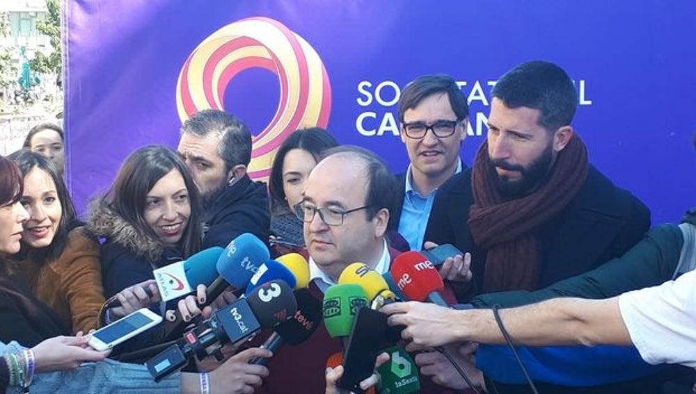 Iceta, en la manifestación de SSC en Barcelona