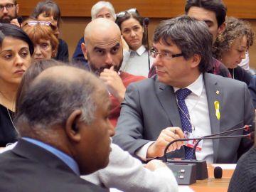 Puigdemont y Anna Gabriel el un congreso de la ONU