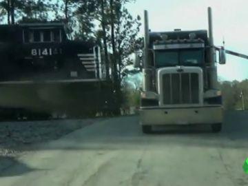 tren camion choque