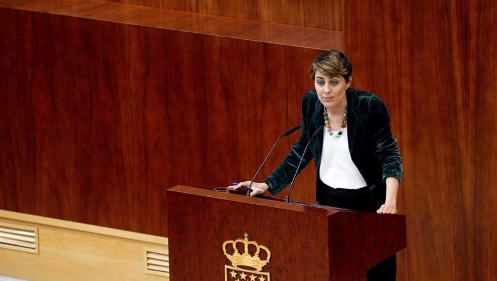 La portavoz de Podemos, Lorena Ruiz-Huerta