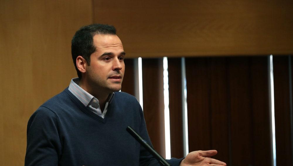 El portavoz de Ciudadanos, Ignacio Aguado
