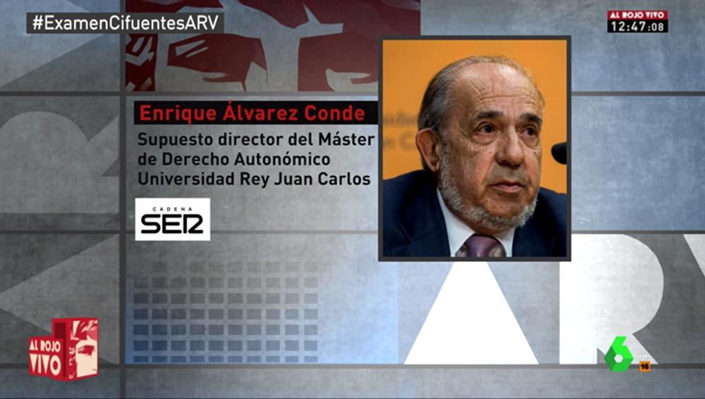 Enrique Álvarez Conde, supuesto director del máster de Cifuentes