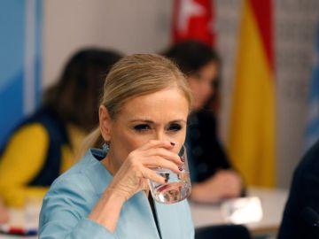 La presidenta de la Comunidad de Madrid, Cristina Cifuentes, durante la reunión del Comité Ejecutivo del PP de Madrid