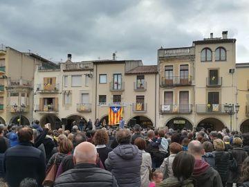manifestación en Amer, Girona