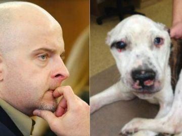 El agresor y la perra a la que torturó