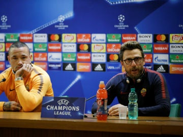 Nainggolan y Di Francesco, en sala de prensa