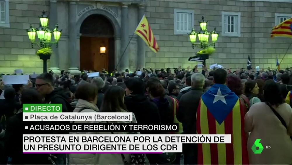 Manifestación de los CDR en Barcelona