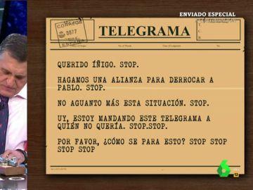 El telegrama de Wyoming a Errejón