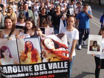Manifestación en Sabadell por Caroline del Valle