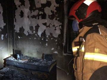 Incendio en un domicilio de Alcorcón