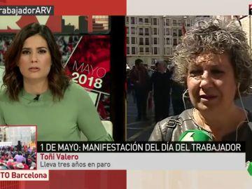 Toni Valero, una mujer de 57 años que lleva tres años en paro