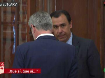Maillo y Villegas en los pasillos del Congreso
