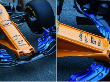 El nuevo morro de McLaren