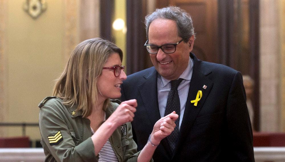 El candidato a presidente de la Generalitat, Quim Torra