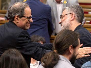 Quim Torra y Carles Riera