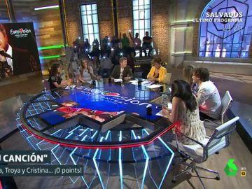 Cristina Pardo y sus colaboradores se atreven a imitar a Amaia y Alfred en Eurovisión cantando 'Tu canción'