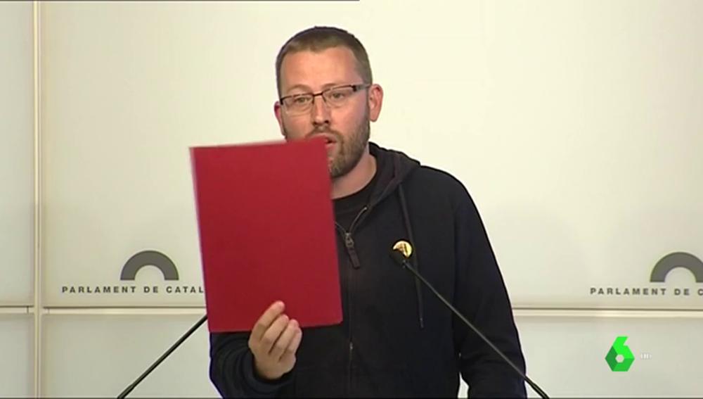 """LA CUP saca tarjeta roja a Torra: """"Tenemos que enseñar la bandera para construir la república de las clases populares"""""""
