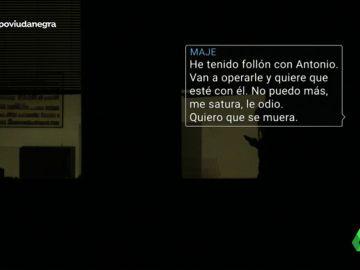 """Los mensajes de Maje con uno de sus amantes sobre Antonio Navarro antes del asesinato: """"Me maltrata, he pensado en acabar con su vida"""""""