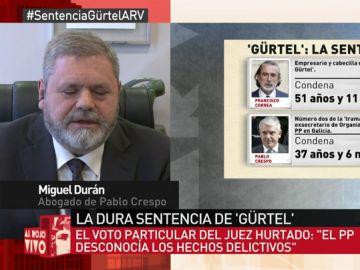 Miguel Durán, abogado de Pablo Crespo