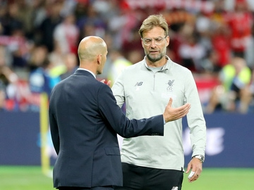 Zinedine Zidane y Jürgen Klopp
