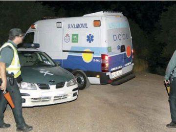 Agentes de la Guardia Civil durante el dispositivo de búsqueda del menor