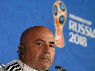 Jorge Sampaoli, en rueda de prensa