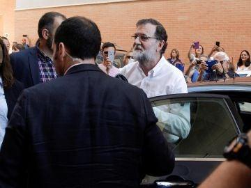 Rajoy llega a su trabajo como registrador de la propiedad