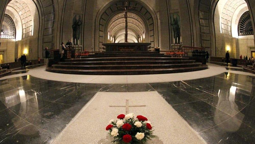 Vista del interior de la basílica del Valle de los Caídos