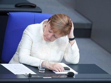 Angela Merkel en el Parlamento de Alemania
