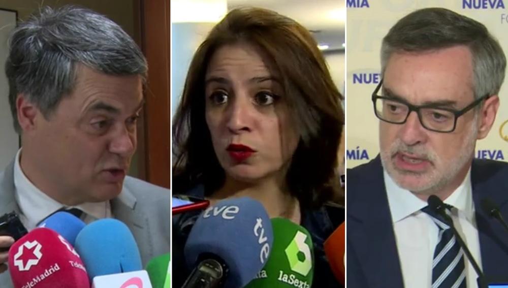 Respuesta de los partidos a la operación Enredadera