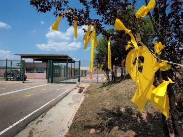 Lazos amarillos en la cárcel de Lledoners