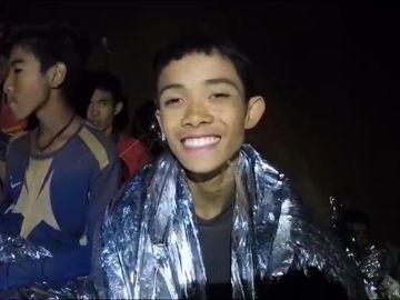 Uno de los niños atrapados en una cueva de Tailandia