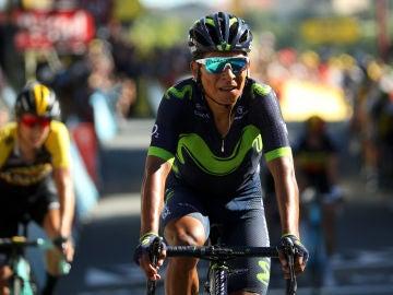 Nairo Quintana en una carrera
