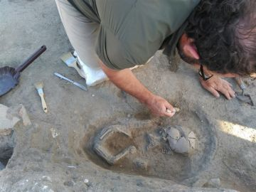 Equipo arqueológico que ha estado trabajando Villa Romana