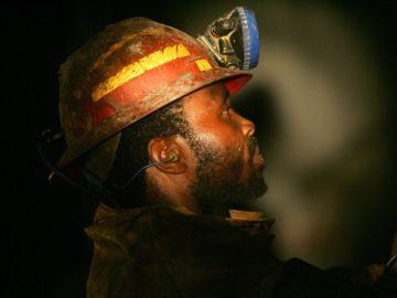 Minero de Sudáfrica