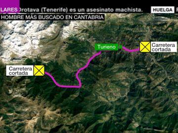 VÍDEO REEMPLAZO | La Guardia Civil cree que el huido de Turieno puede ir armado y pide no acercarse a la zona
