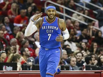 Carmelo Anthony, con los Thunder