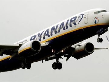 Un avión de la compañía irlandesa Ryanair