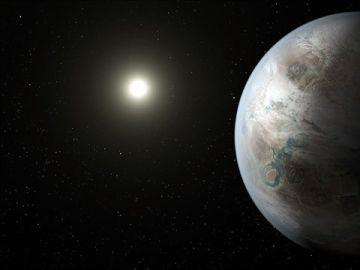 Imagen de la Nasa de la Tierra y la luna