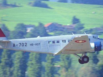 Imagen de archivo del modelo del avión estrellado en Suiza
