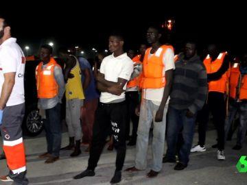 Migrantes llegados a las costas andaluzas