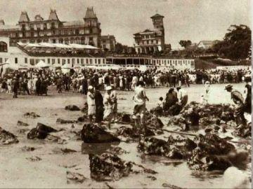 Playa del Mar Cantábrico en el siglo XIX