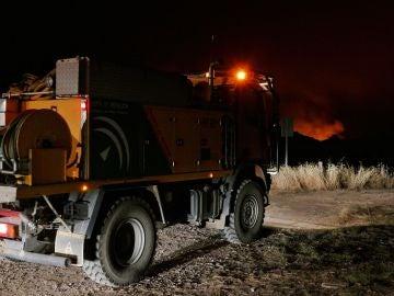 Operativos en el incendio de Huelva